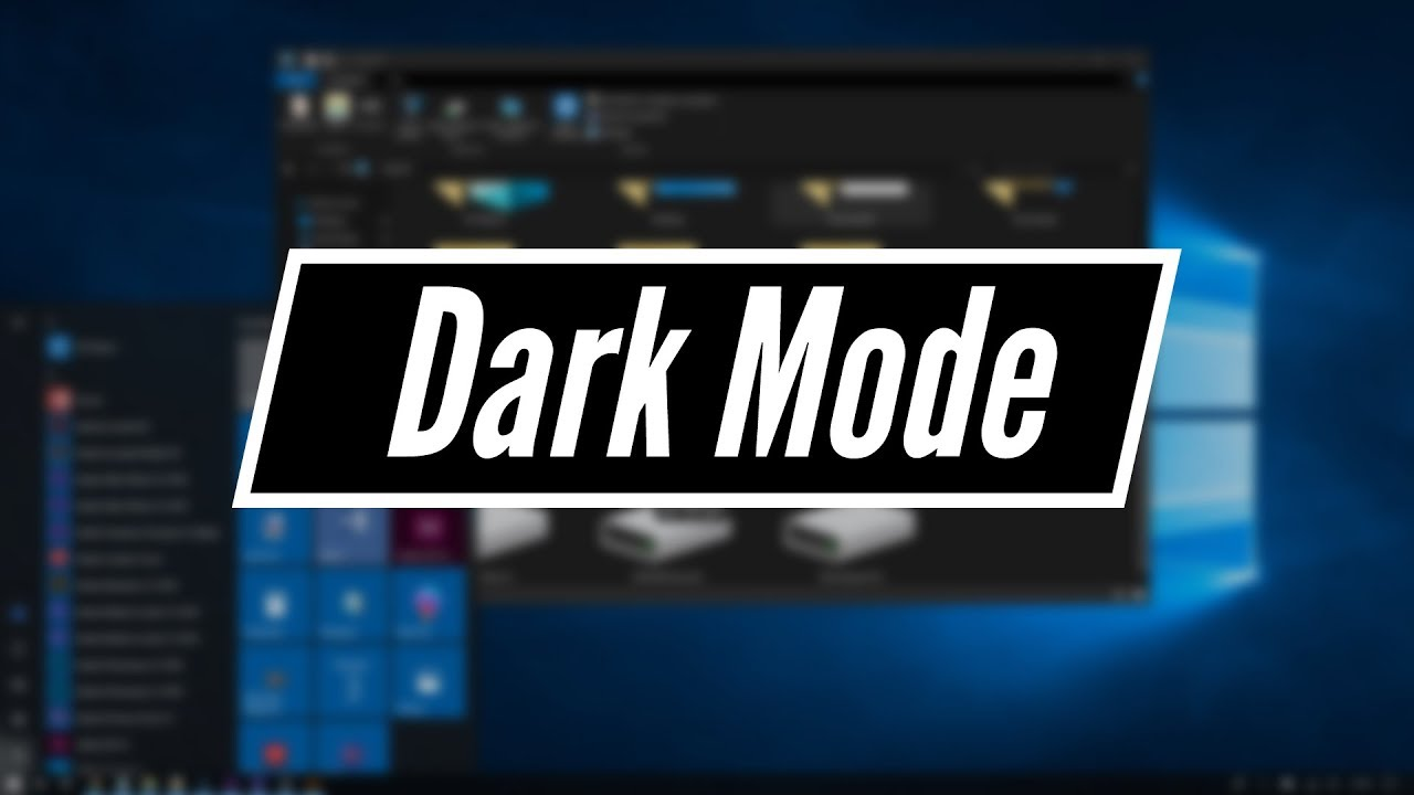 How to Turn on the Dark Mode for Windows 10