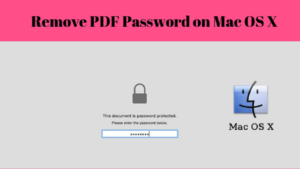 How to remove password from PDF on Mac